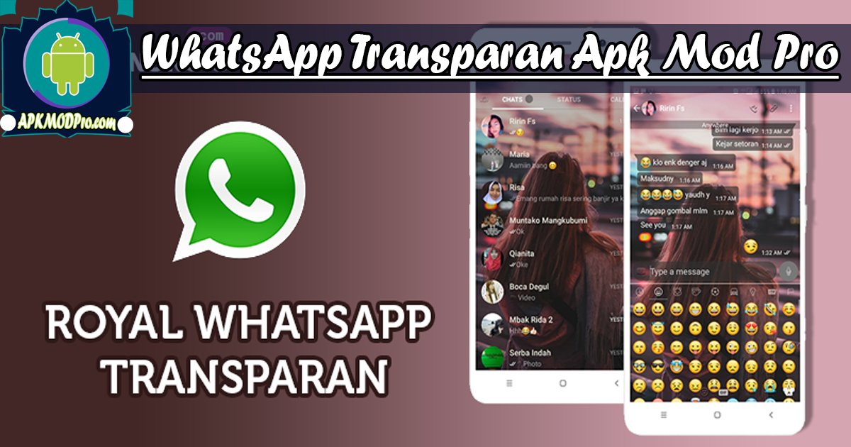 Download WhatsApp Transparent MOD APK v9.70 Prime | Terbaru 2020