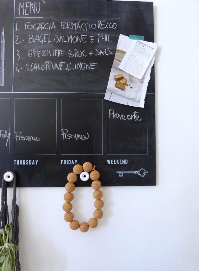 Appunti di casa: la nuova lavagna målarna di ikea nella minicucina