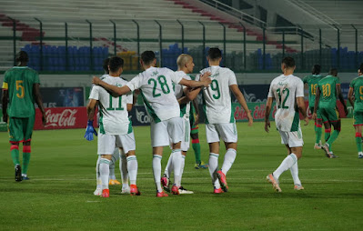 ملخص اهداف مباراة الجزائر وموريتانيا (4-1) الودية