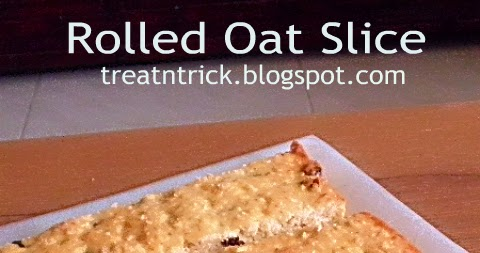 Treat Amp Trick Rolled Oat Slice