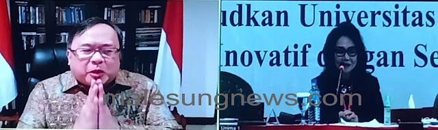 Menristek dan BRIN Prof.Bambang Permadi Soemantri Brodjonegoro,Ph.D Ajak UNIMA Mendorong Inovasi Di Desa