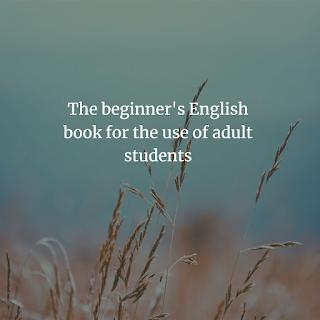 The beginner's English