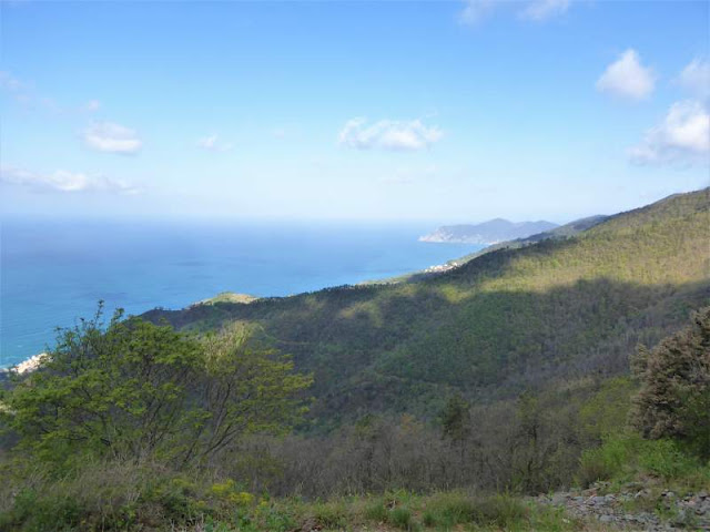 panorama dal bivio Bramapane Cinque Terre