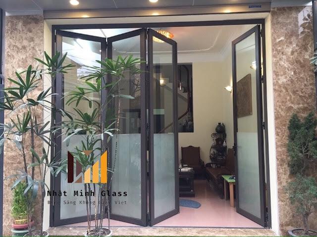 Mẫu Cửa Nhôm Xingfa Màu Nâu Cafe Đẹp