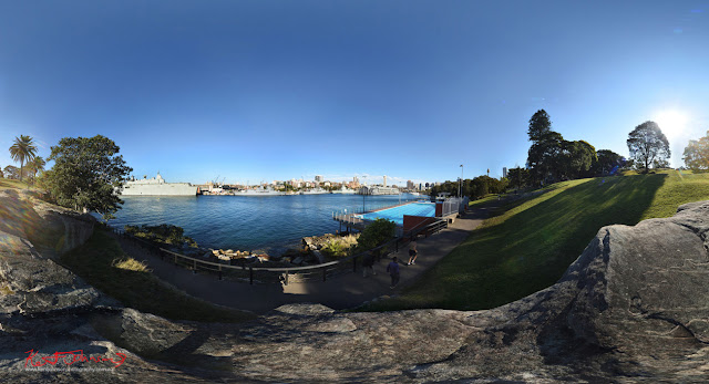 Domain and Boy Charlton Pool  in 360VR photography by Kent Johnson Travel photographer, Sydney, Australia.