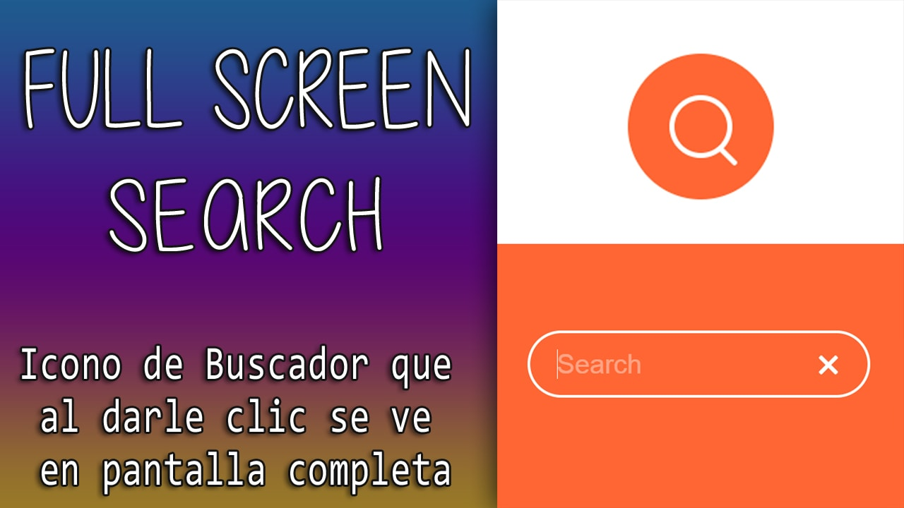 Full screen Search with Css and Javascript