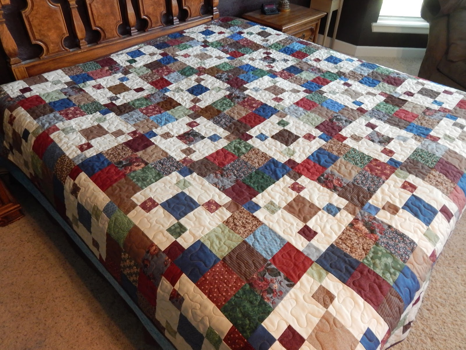 The Fleming S Nine Classic Country Floral Queen Size Quilt