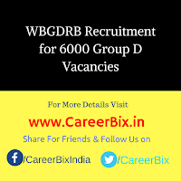 WBGDRB Recruitment for 6000 Group D Vacancies