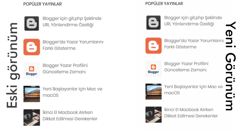 Blogger'da Bulanık Popüler Yayın Görsellerini Düzeltme