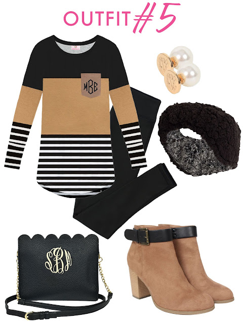tunic shirt and boots and purse