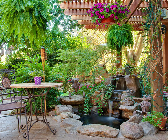 Create a Tropical Retreat in Your Backyard | Home Styles on Small Tropical Backyard id=28912