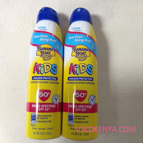Xịt chống nắng Banana Boat Kids Tear Free Sting Free Continuous Lotion Spray Sunscreen