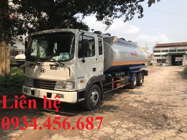 Xe bồn Hyundai HD240 xitec 21 khối chở xăng dầu