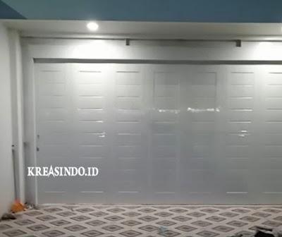 Pintu Garasi Besi pesanan Bpk Haji Uke di Kota Serang Banten