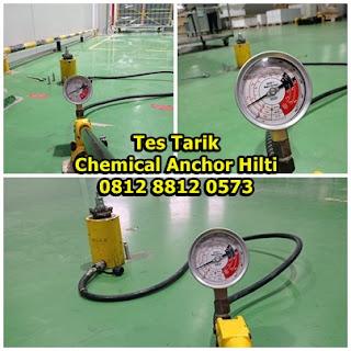 Tes Tarik (Pull Out Test) Chemical Anchor Hilti HIT RE 500 V3