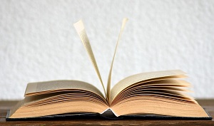 Libro abierto para escritura creativa