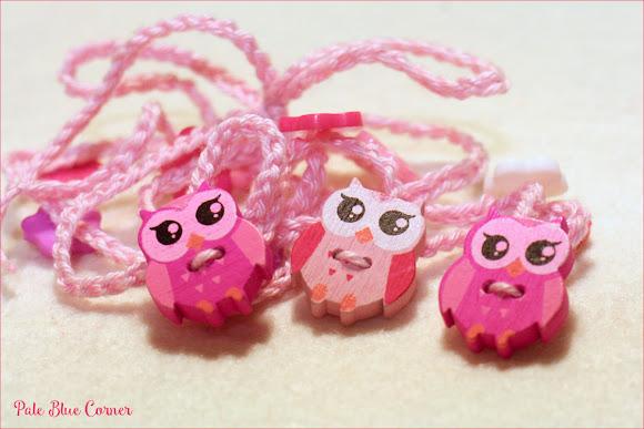 Three Owls Crochet Necklace