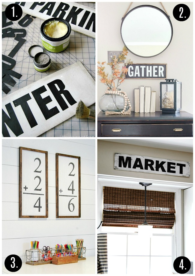 DIY vintage inspired signs (No cutting machines required!)