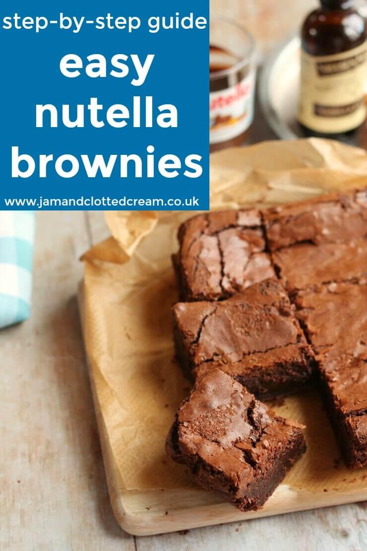 step by step nutella brownies