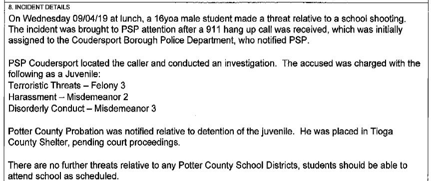 Wellsville Regional News (dot) com: Arrest made in Potter