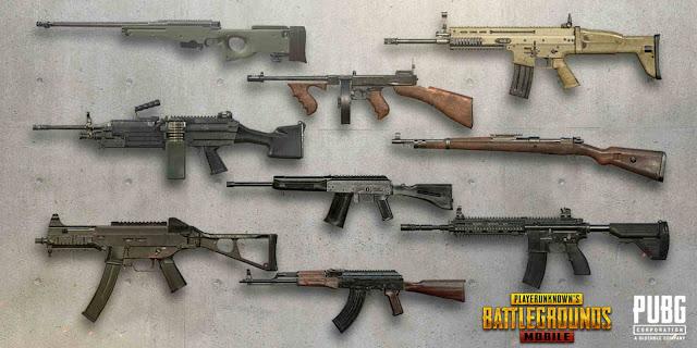 8 Daftar Senjata PUBG Mobile Tersakit dan Terbaik