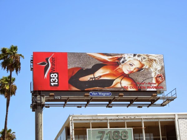 138 Water DJ Colleen Shannon swimsuit billboard