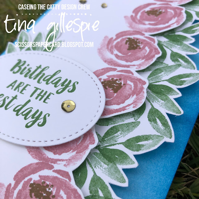 scissorspapercard, Stampin' Up!, CASEing The Catty, Beautiful Friendship, Itty Bitty Birthdays, Stitched Shapes Dies