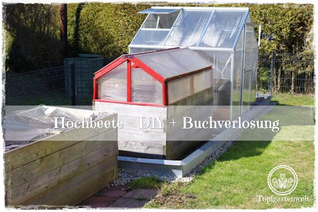 Gartenblog DIY Hochbeet mit Überdachung hinter Schneckenzaun