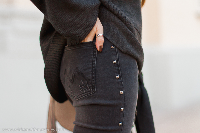 Jeans Skinny pitillo con tachas rotos imperdibles modelo Mareg de Meltin' Pot