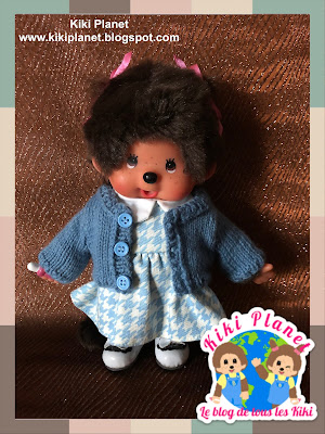 kiki monchhichi doll handmade fait main knitted pull sweater vêtement poupée