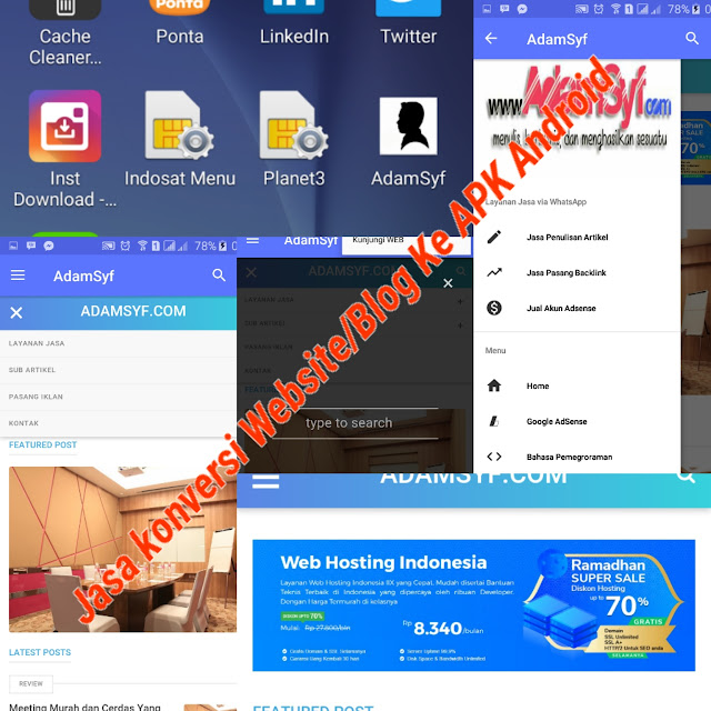 Jasa Konversi Website / Blog ke APK Android Terbaru