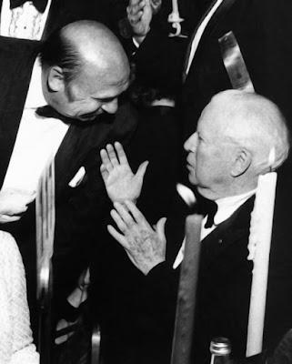 Чарльз Чаплин и Джеки Куган на церемонии вручения Оскара (1972)
