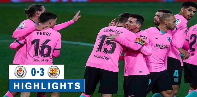 Real Valladolid vs Barcelona Highlights