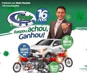 Promoção Rede Parceria Supermercados Raspou Achou Ganhou - Carro, Motos e Muitos Prêmios