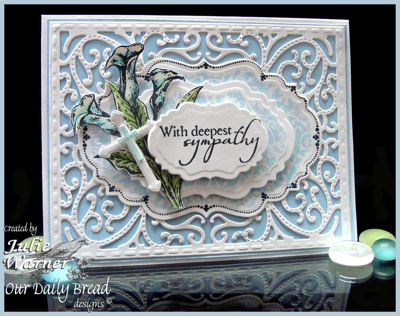 Stamps - Our Daily Bread Designs Carried to Heaven, Chalkboard Vine Background, Flourish Label Borders, Loving Memories, ODBD Custom Vintage Flourish Pattern Die, ODBD Custom Vintage Labels Die, ODBD Custom Ornamental Crosses Die
