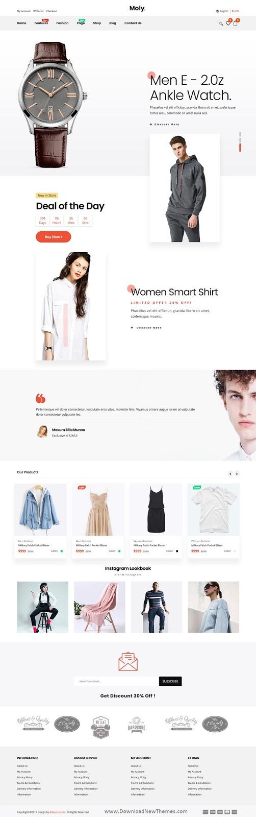 Multipurpose eCommerce Website Template