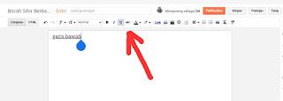 Cara Membuat Tulisan Miring, Tebal, dan Garis Bawah Pada Postingan Blog