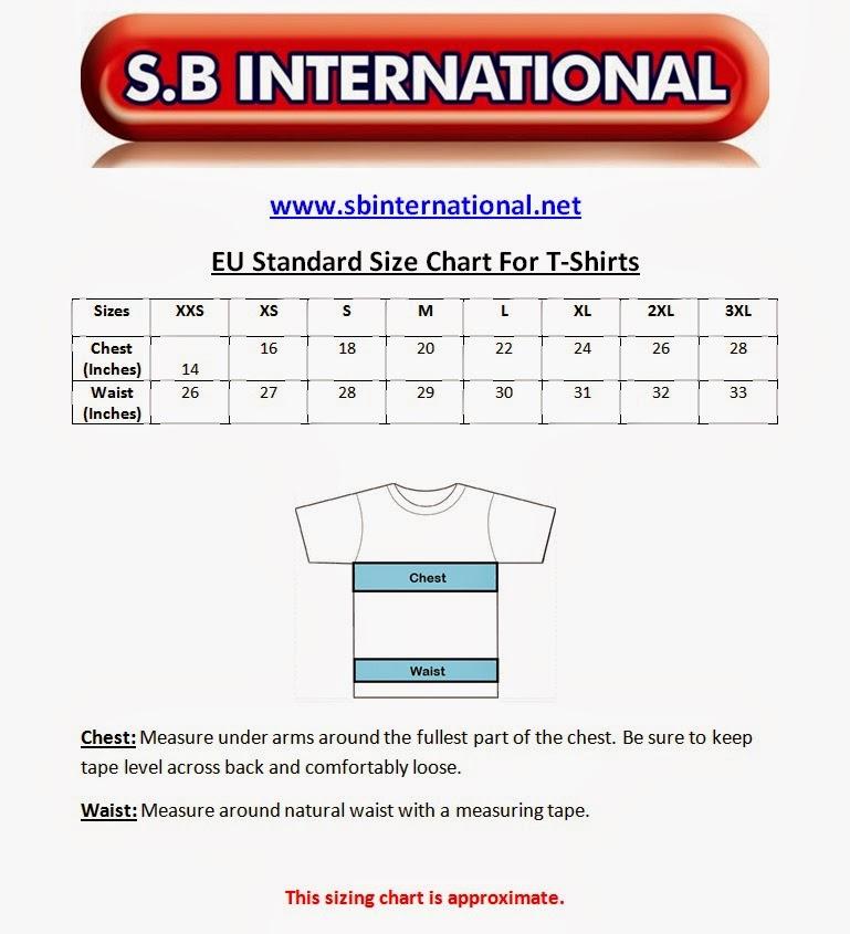 Eu standard size chart for  shirts also charts apparel rh standardsizechartsspot