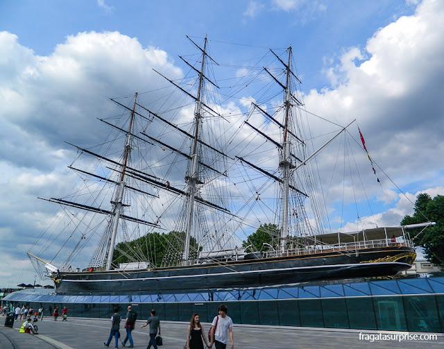 Veleiro histórico Cutty Sark em Greenwich, Londres