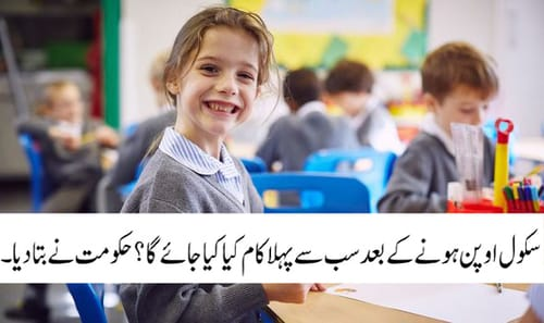 Pakistani school reopening January 2021-2022