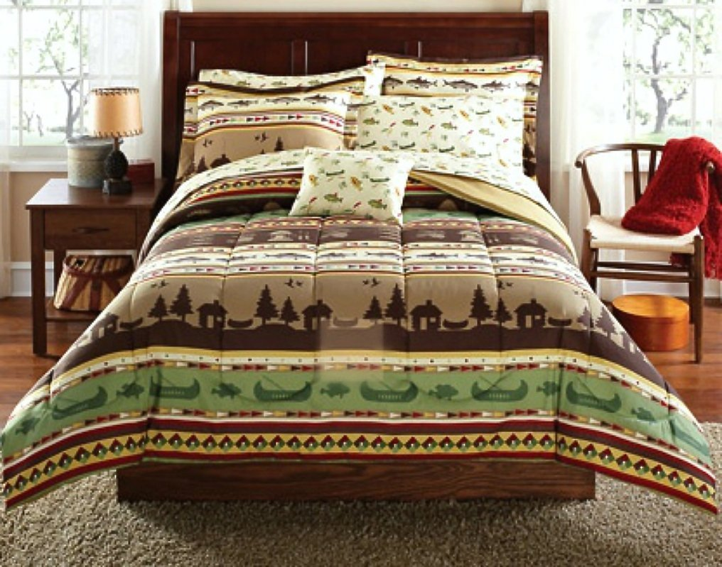 Rustic Lodge Log Cabin Themed Bedding Sets