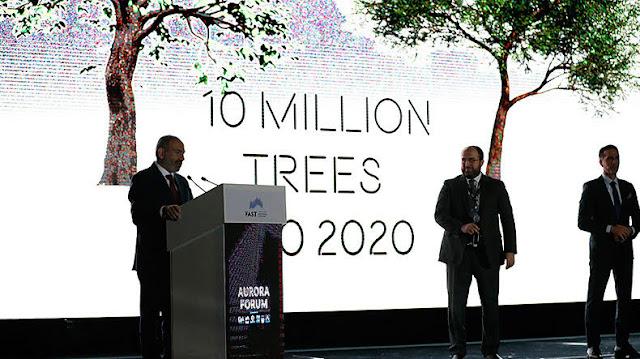 Armenia comienza a plantar 10 millones de árboles
