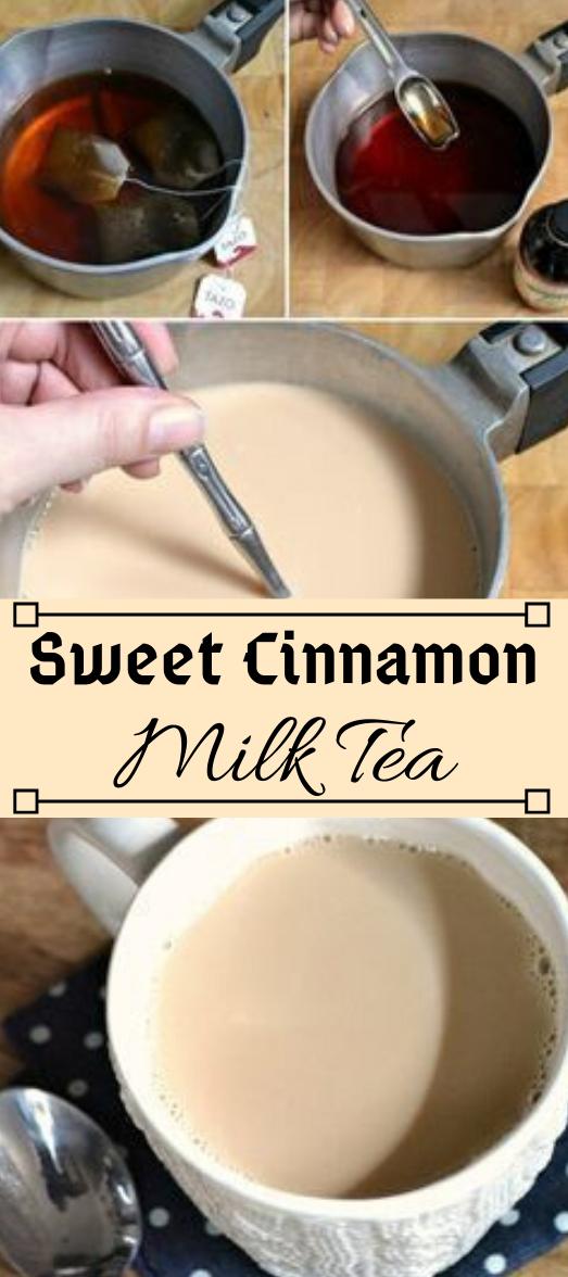 SWEET CINNAMON MILK TEA #sangria #cocktail #summer #smoothie #party