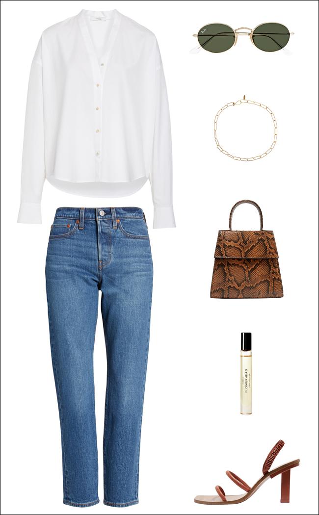 An Effortless Denim Outfit Idea for Summer