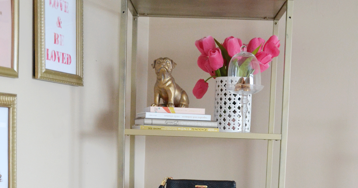 All Things Pink And Pretty Diy Ikea Hack Bookcase Amp Styling
