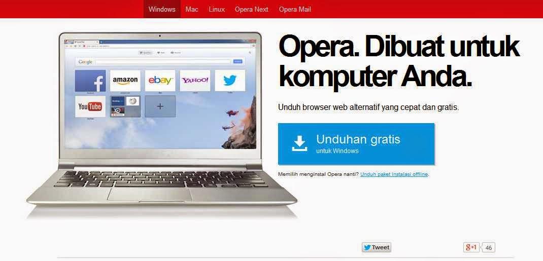 Download Opera Mini Terbaru 2012 For Pc