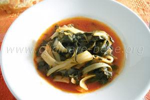 ricetta di verdure: bietole al sugo
