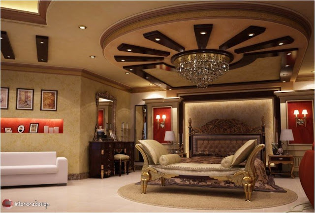 Gypsum Bedroom Designs 18