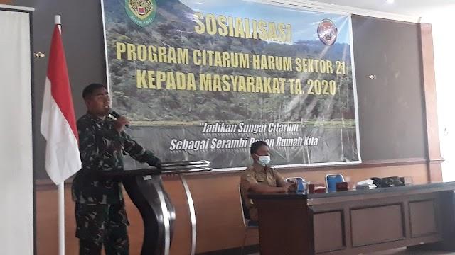 Satgas Sektor 21 Sosialisasi Citarum Harum di Cicalengka