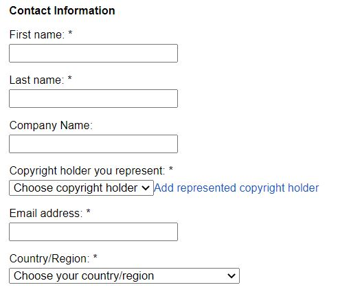 Now fill-up the contact information form with your own information